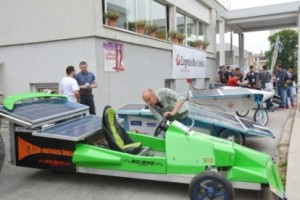 Students solar cars race in Sisak, Croatia, June 2016
